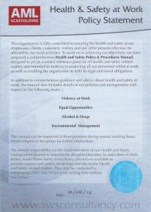 AML Health & Safety Policy