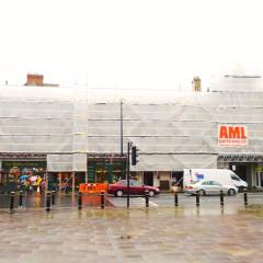 Shops opposite Cardiff Castle